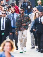 "Chadwick Boseman Makes Multiple Wardrobe Changes at ""Jimmy Kimmel Live"""