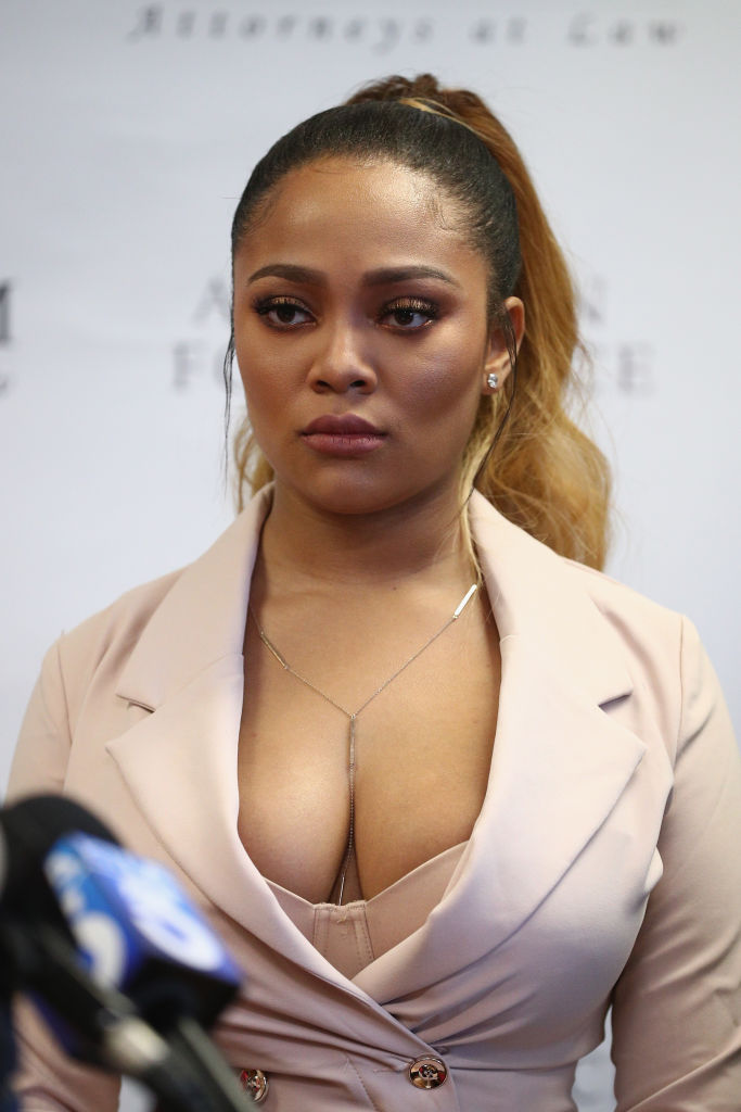 Teairra Mari And Her Attorneys Lisa Bloom And Walter Mosely Hold Press Conference About New Legal Action Against 50 Cent And Akbar Abdul-Ahad