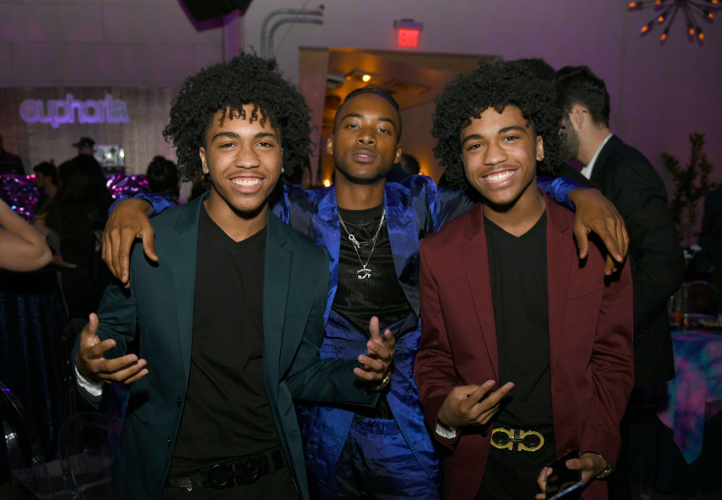 Algee Smith With Euphoria brothers Tyler and Tristan Timmons