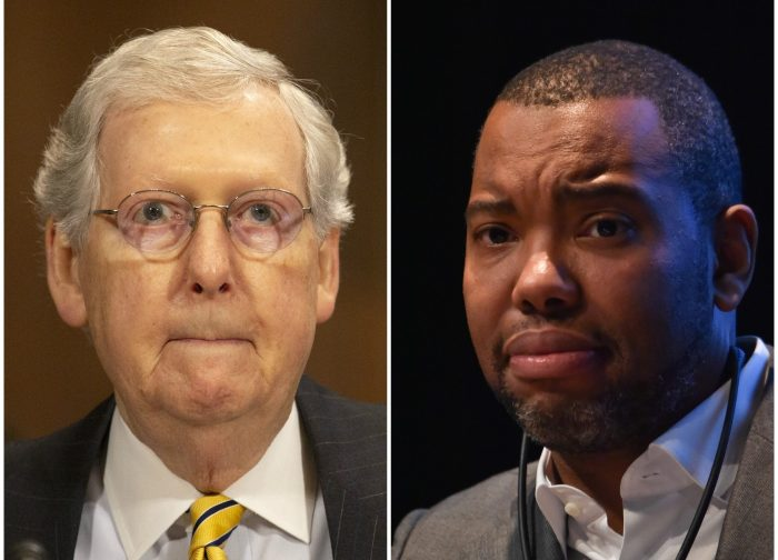 Ta-Nehisi Coates and Mitch McConnell side-by-side
