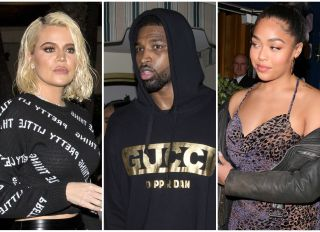 Khloe Kardashian and Tristan Thompson and Jordyn Woods