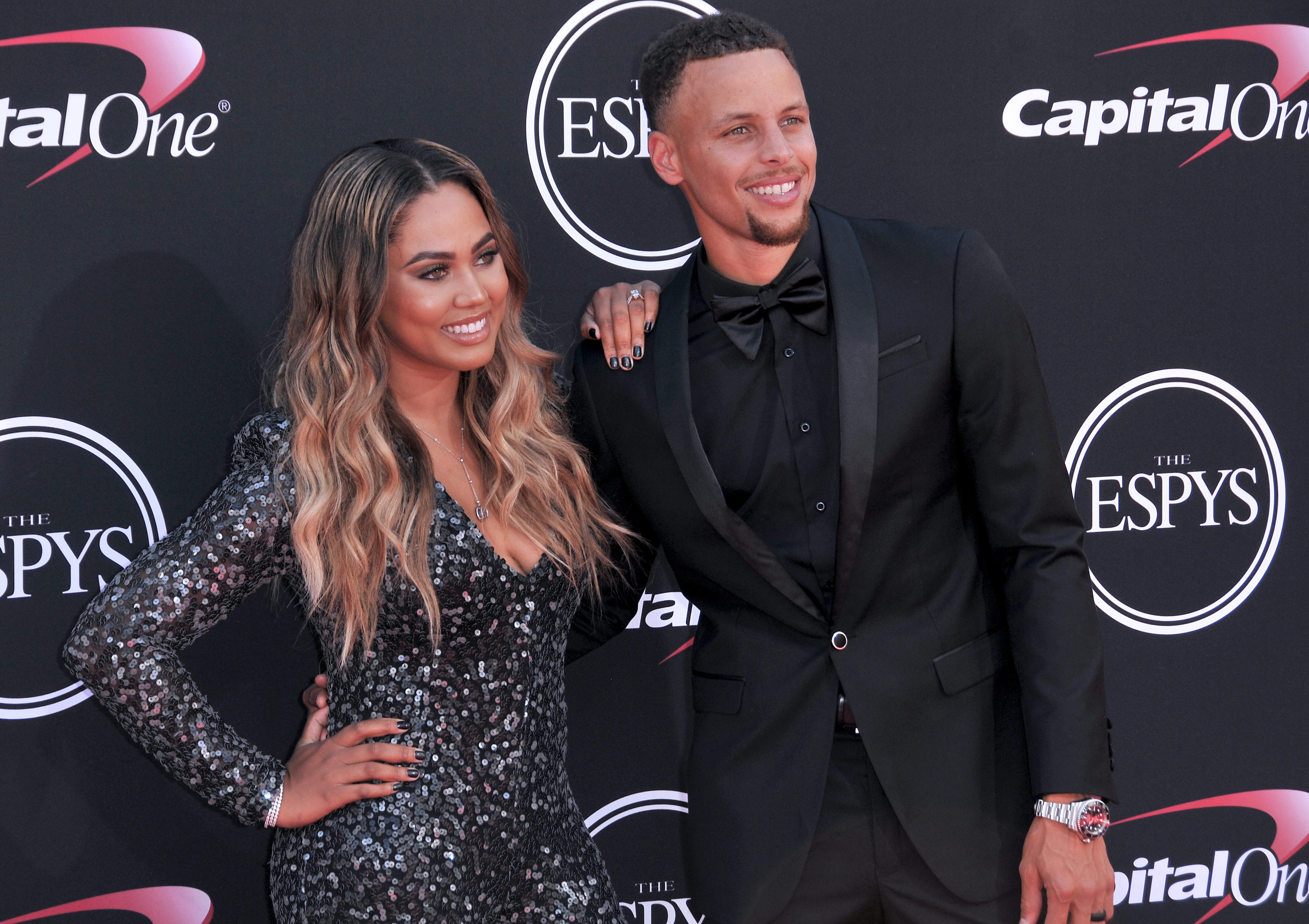 Ayesha Curry and Steph Curry
