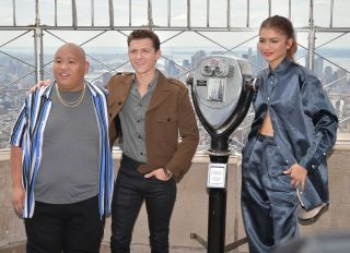 """Stars Of """"Spider-Man: Far From Home"""" Light The Empire State Building"""