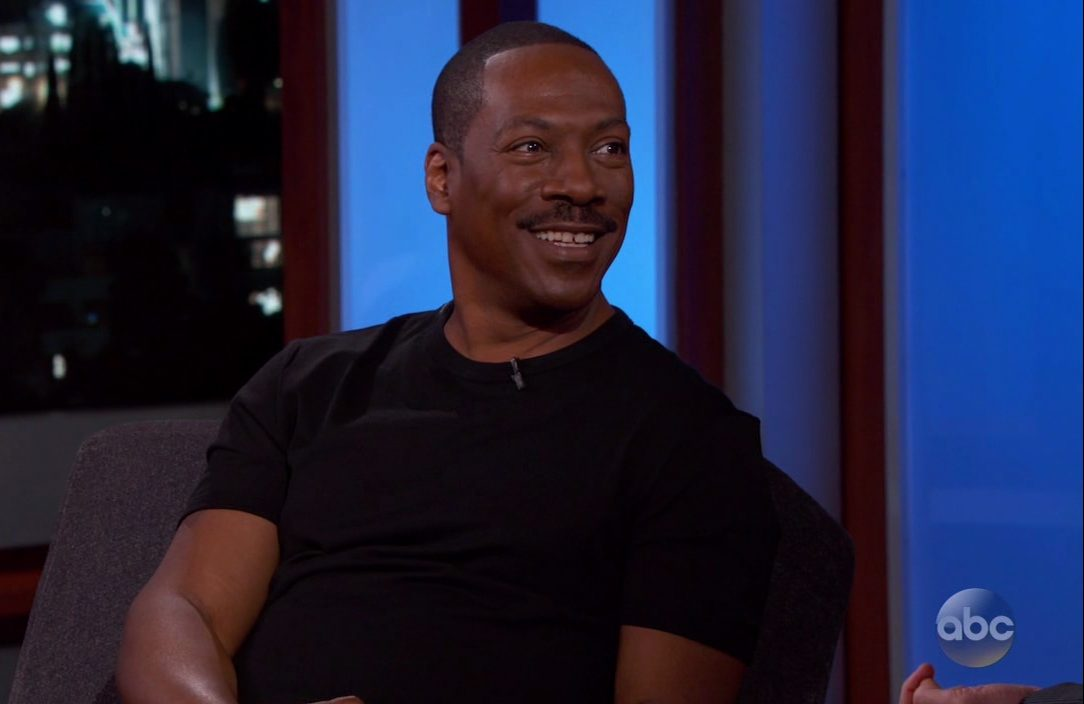 Eddie Murphy during an appearance on ABC's 'Jimmy Kimmel Live!'