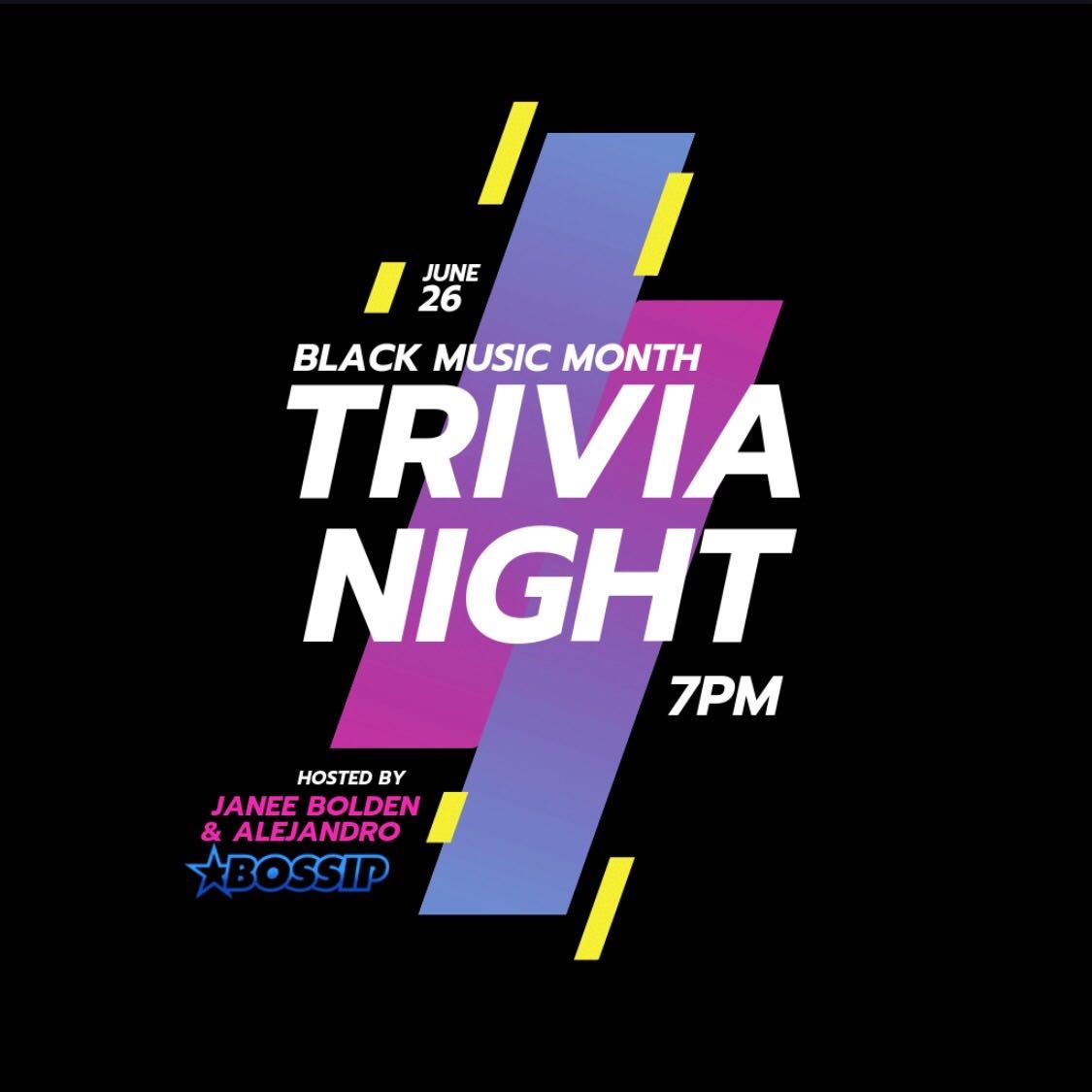 Black Music Month Trivia Night