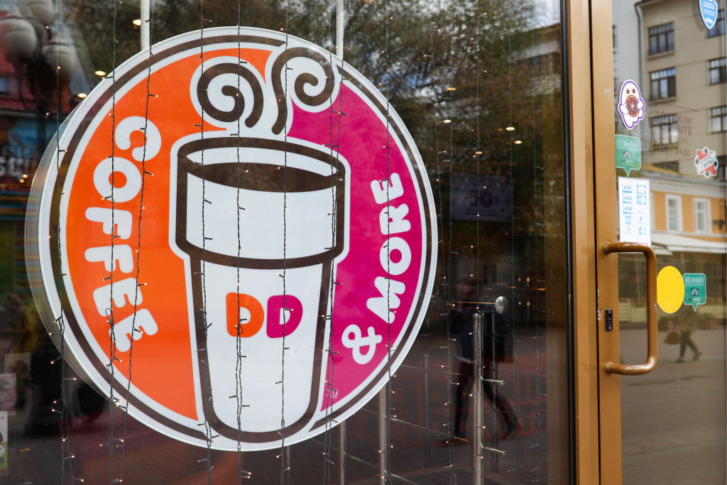 Dunkin' Donuts coffeehouse in Moscow