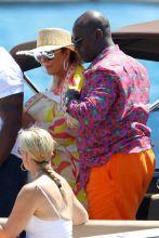 Kris Jenner and Corey Gamble Yacht