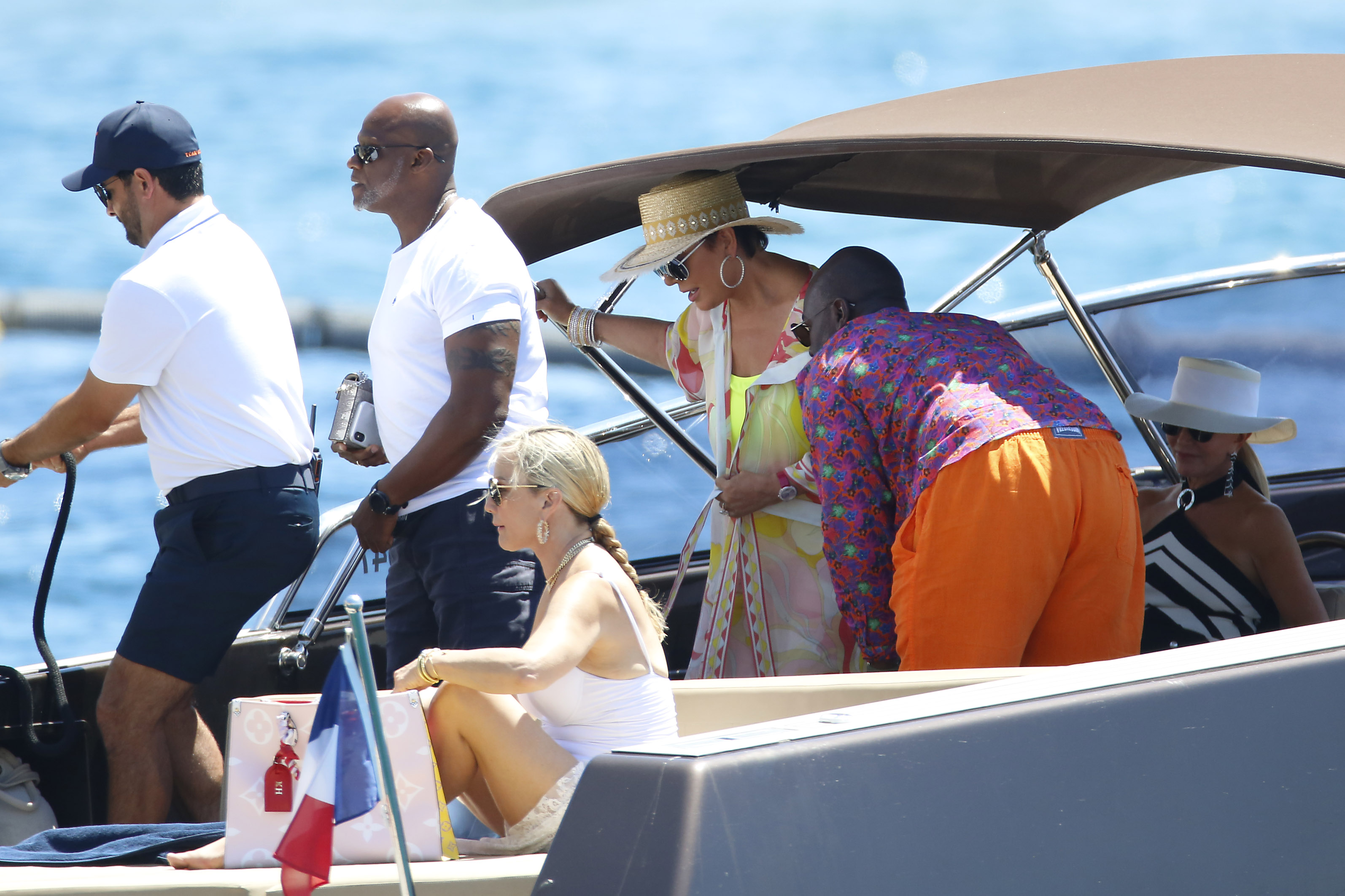 Girl with big ass on boat Corey Got A Big Ol Butt Kris Jenner And Her Heavy Hipped Honey Swirl It Up In The South Of France Bossip