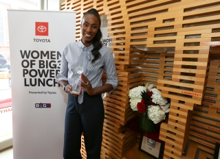 "Lisa Leslie honored at Toyota's ""Women of Big3 Luncheon"" July 12"