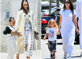 Kim Kardashian and North West Kourtney Kardashian and Reign Disick