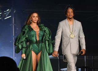 Beyonce and Jay-Z perform during the Global Citizen Festival: Mandela 100