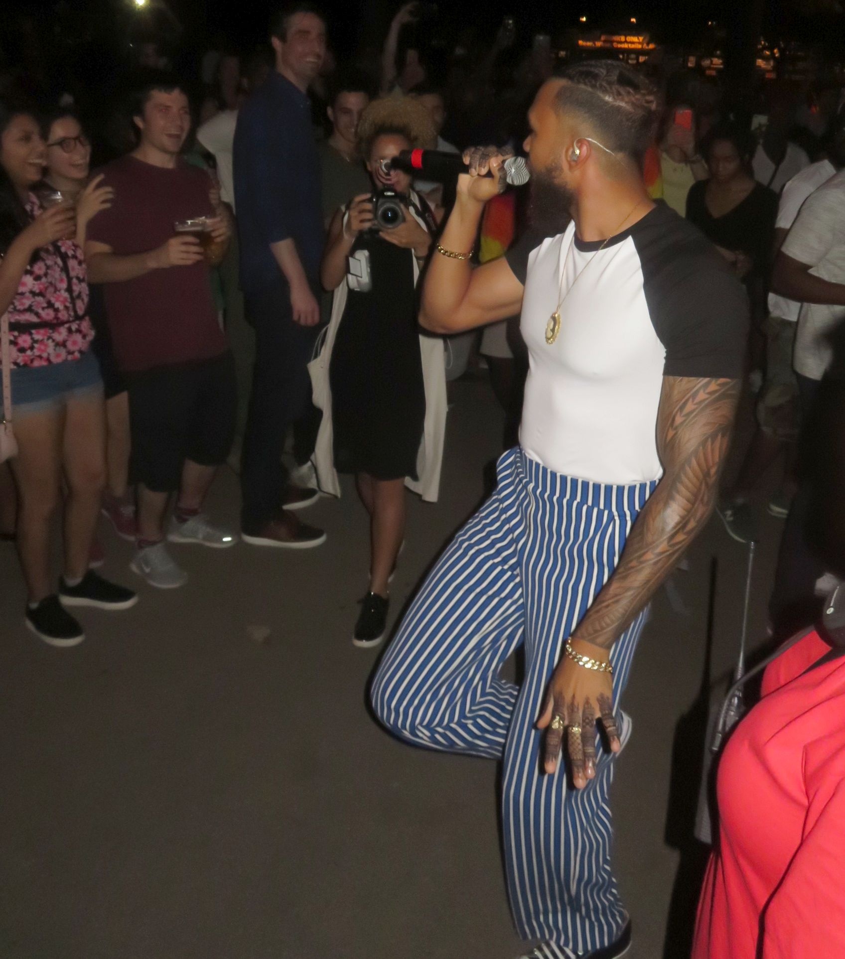 Jidenna performs in Prospect Park