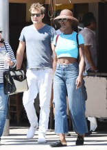 Jodie Turner-Smith Lunches In Beverly Hills with Joshua Jackson