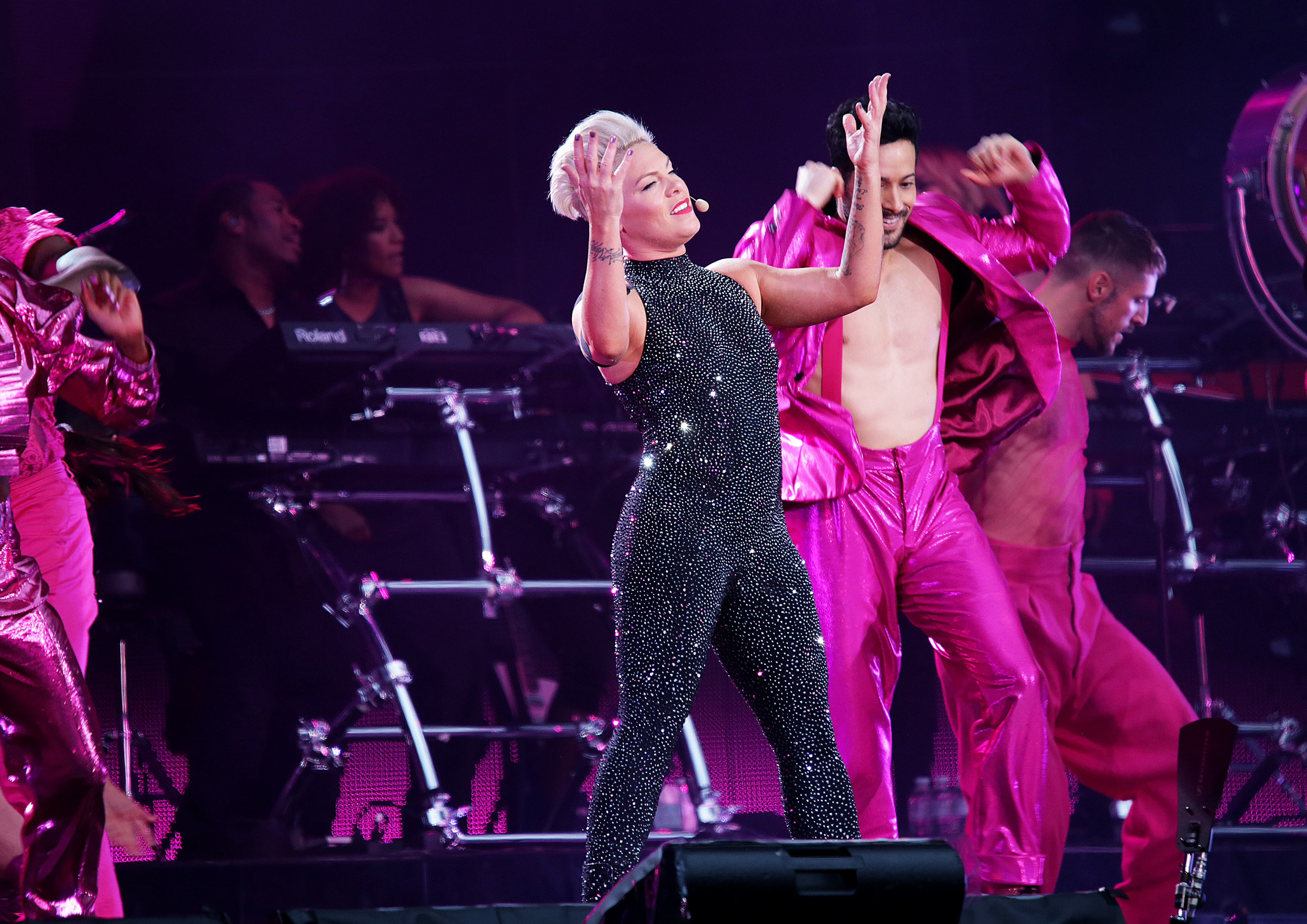 P!nk Performing at Liverpool Anfield Stadium