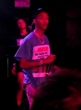 Jaden Smith surprises fans as he jumps up on stage with Willow Smith during her performance at The Roxy