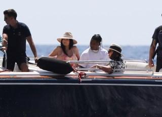 Kylie Jenner, Kris Jenner, Travis Scott and Corey Gamble