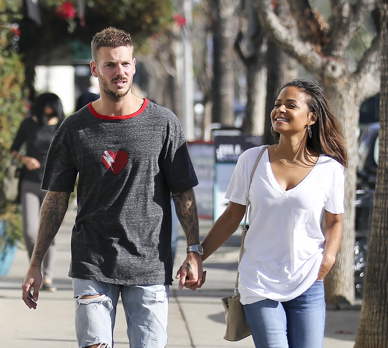 Christina Milian and boyfriend Matt POkora