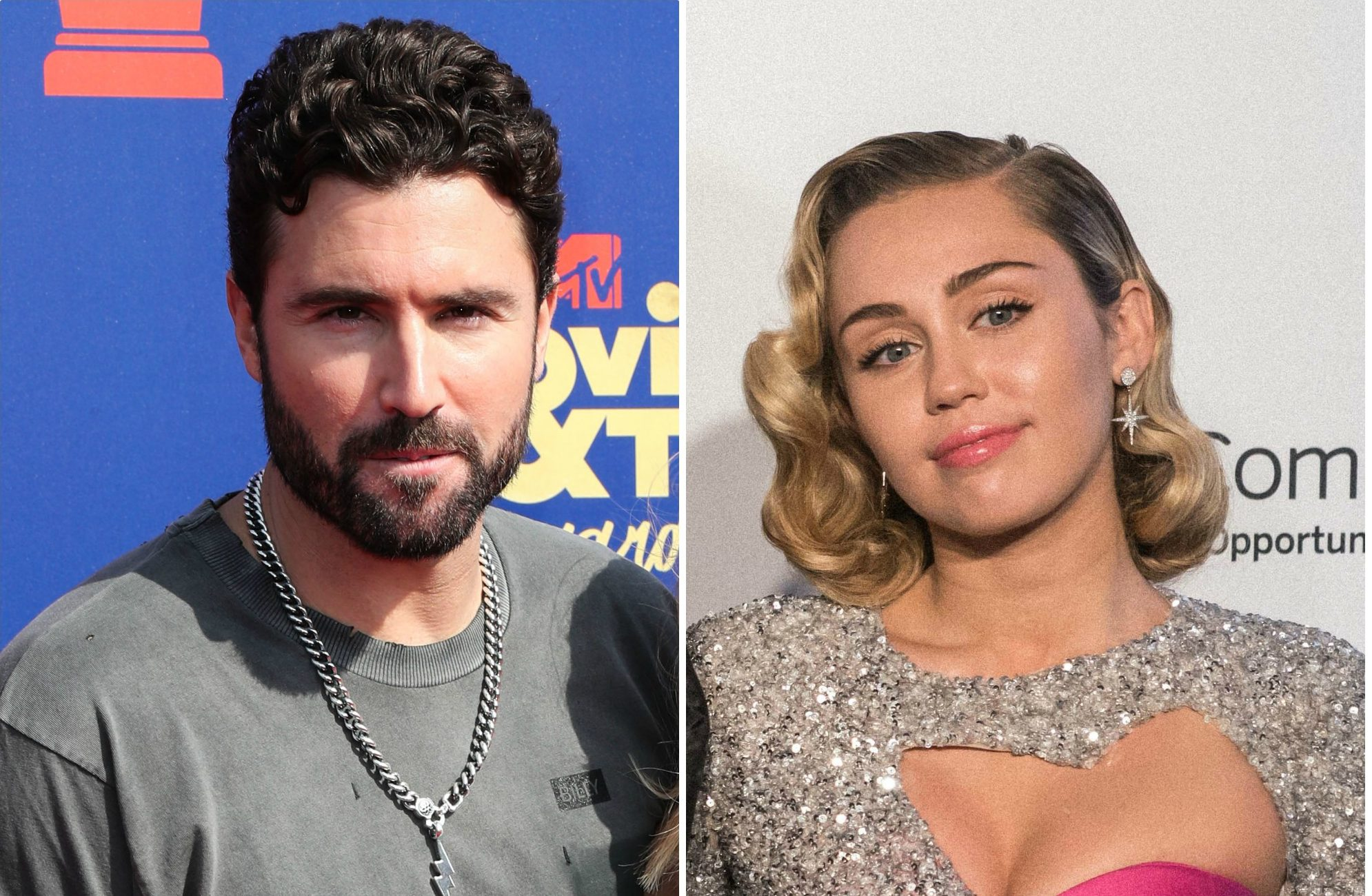 Brody Jenner and Miley Cyrus side-by-side