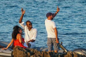 Usain Bolt and girlfriend Kasi J. Bennett vacation in Ibiza, Spain