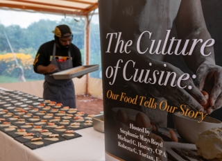 """The Cuisine of Culture: Our Food Tells Our Story"" event with Visit Philly, the African American Museum in Philadelphia an Chef Omar Tate"