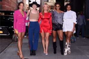 Sailor Brinkley, Marquita Pring, Solange Van Doorn, Yvonne Simone at the E!, ELLE, & IMG Host NYFW Kick-Off Party Top of the Standard, NY