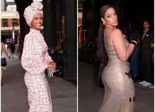 Halima Aden and Dascha Polanco at the E!, ELLE, & IMG Host NYFW Kick-Off Party Top of the Standard, NY