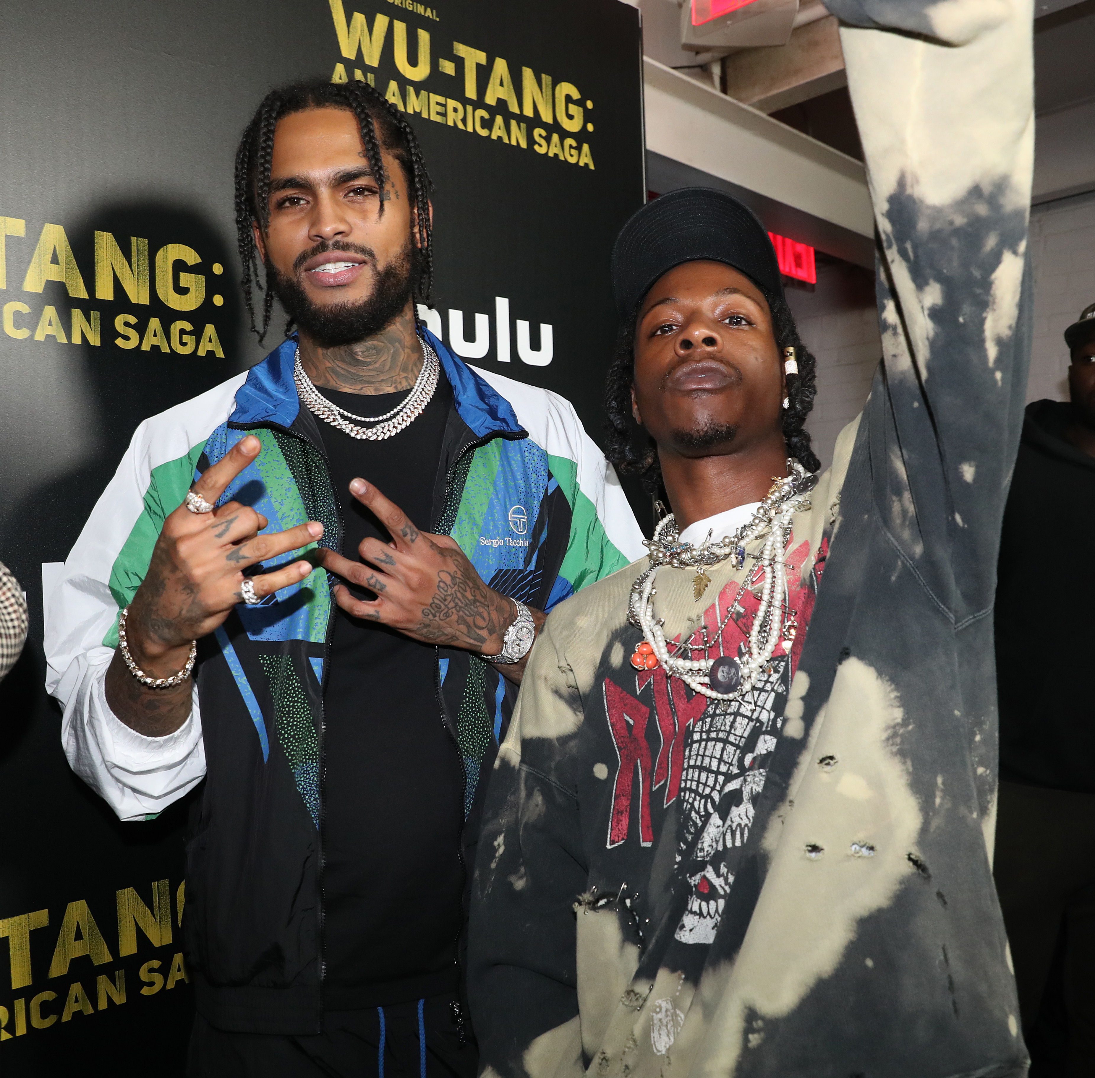 Dave East Joey Bada$$ Red Carpet and After Party Pictures from HULU's Wu-Tang: An American Saga