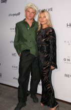 Jordan Barrett and Kate Moss at the Daily Row 7th Annual Fashion Media Awards held the Rainbow Room