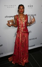Indya Moore at The Daily Row 7th Annual Fashion Media Awards held the Rainbow Room