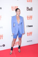 Mette Towley at the TIFF premiere of Hustlers