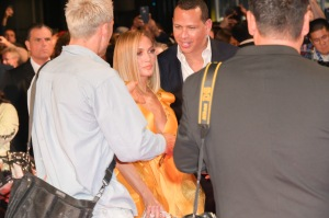 Jennifer Lopez and Alex Rodriguez at TIFF premiere of Hustlers