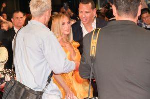 Jennifer Lopez and Alex Rodriguez at TIFF premiere of Hustlers