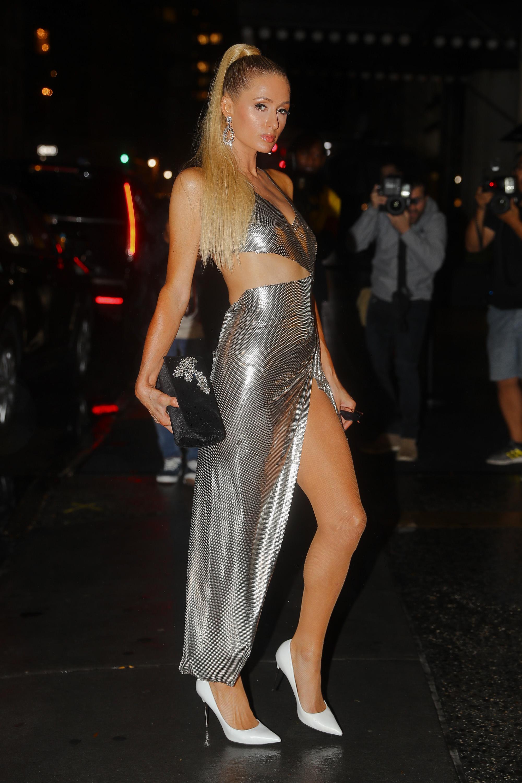 Paris Hilton at Kim Kardashian and Winnie Harlow KKW Beauty Collab Launch