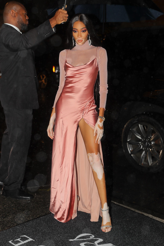 Kim Kardashian and Winnie Harlow KKW Beauty Collab Launch