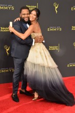 Anthony Anderson and Nicole Scherzinger at the 2019 Creative Arts Emmy Awards
