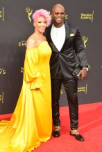 Rebecca and Terry Crews 2019 Creative Arts Emmy Awards