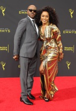 Courtney B. Vance and Angela Bassett at the 2019 Creative Arts Emmy Awards