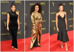Kim Kardashian West Angela Bassett Tinashe at the 2019 Creative Arts Emmy Awards