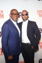 Forest Whitaker and Swizz Beatz at the Godfather Of Harlem Screening at the Apollo