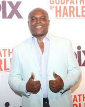 Ty Jones at the Godfather Of Harlem Screening at the Apollo