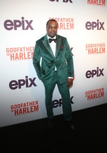 Markuann Smith at the Godfather Of Harlem Screening at the Apollo