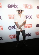Bodega Bamz at the Godfather Of Harlem Screening at the Apollo
