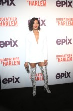 Antoinette Crowe-Legacy at the Godfather Of Harlem Screening at the Apollo