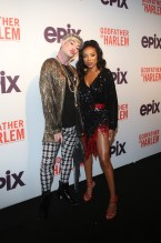 Richie Rich and Lil Mama at the Godfather Of Harlem Screening at the Apollo