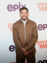 Kelvin Harrison Jr. at the Godfather Of Harlem Screening at the Apollo