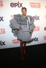Demi Singleton at the Godfather Of Harlem Screening at the Apollo