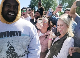Kanye West and white fans