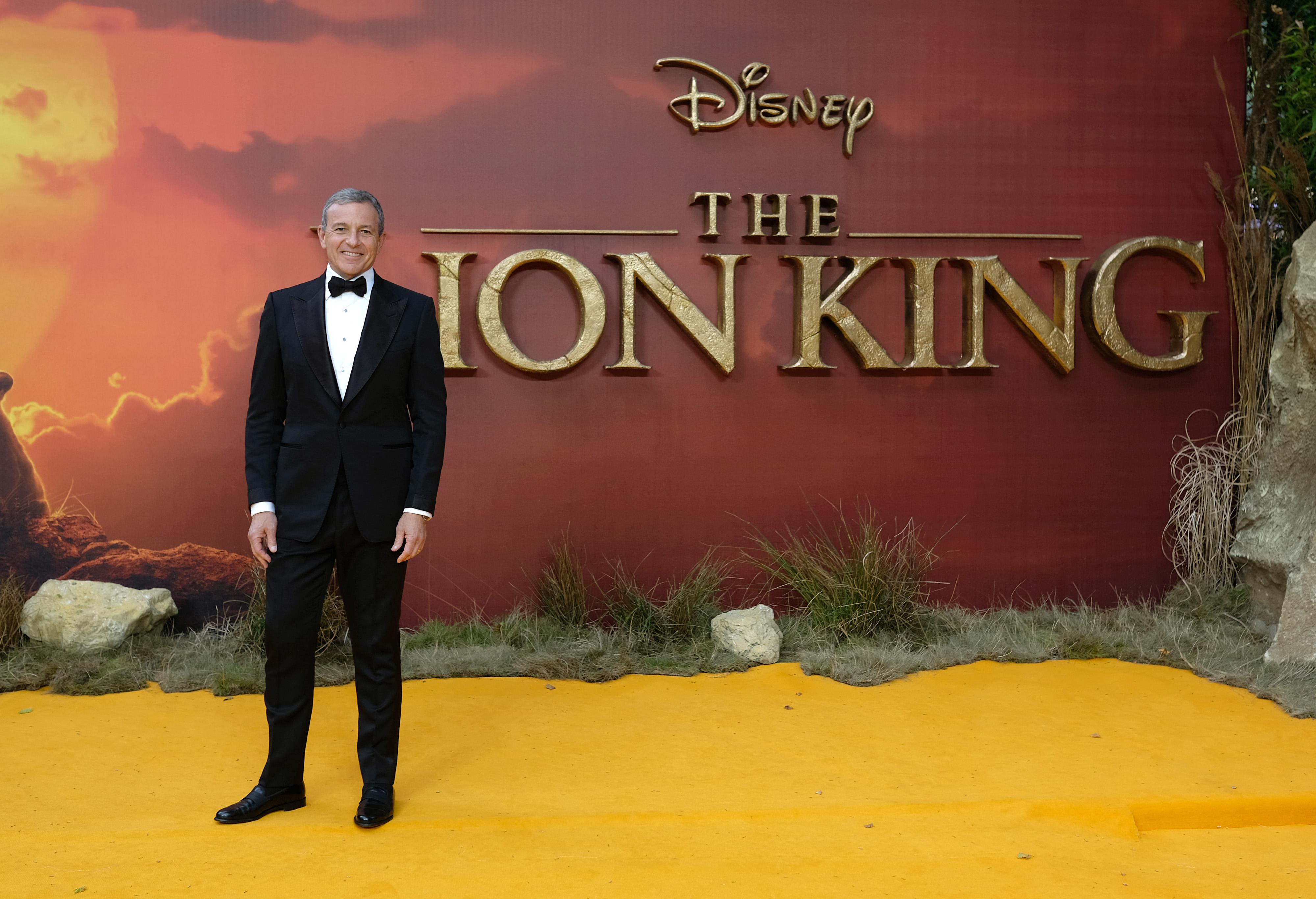 Disney CEO Bob Iger Lion King Premier