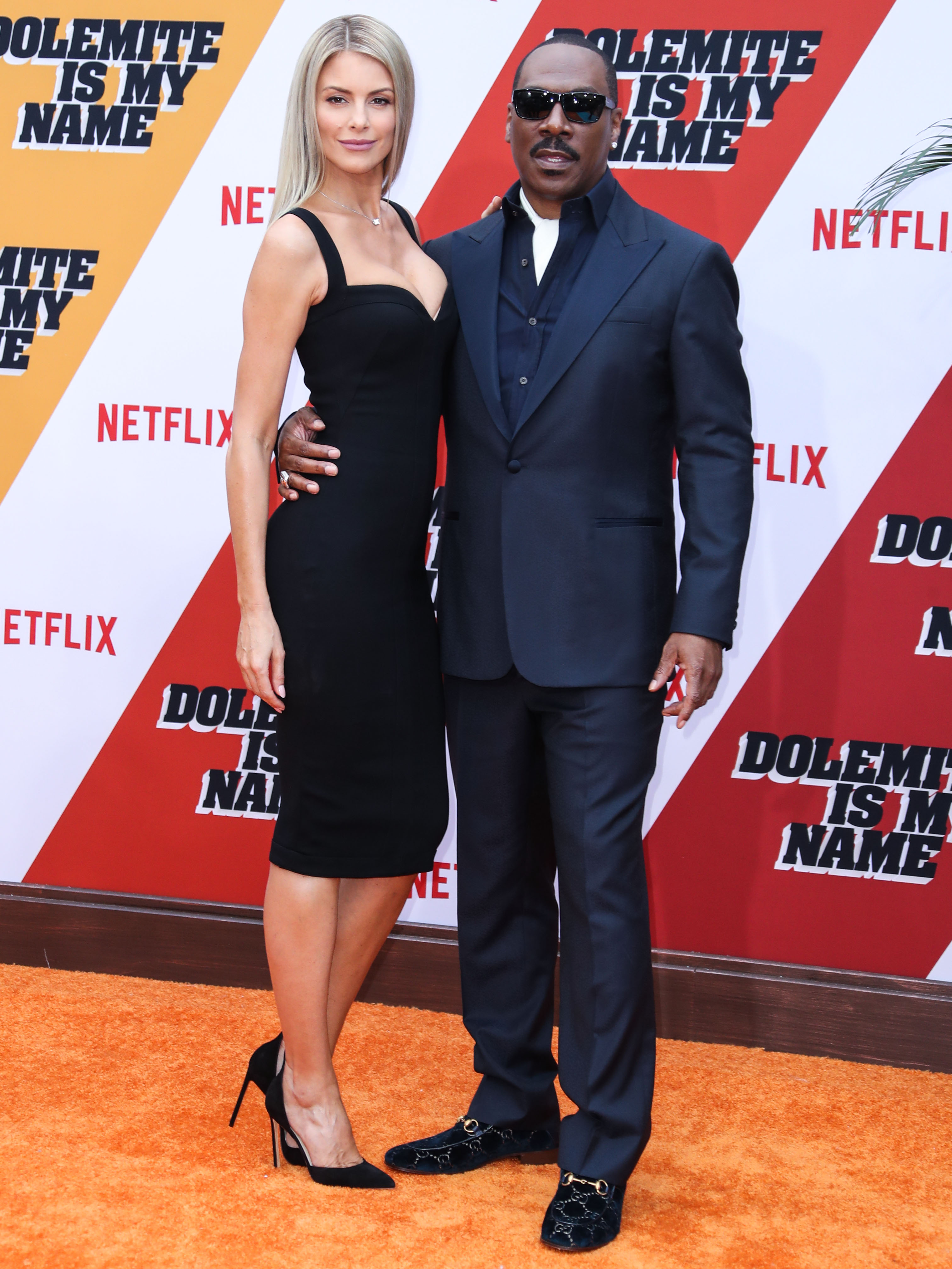 Paige Butcher and Eddie Murphy at the Los Angeles Premiere Of Netflix's 'Dolemite Is My Name'