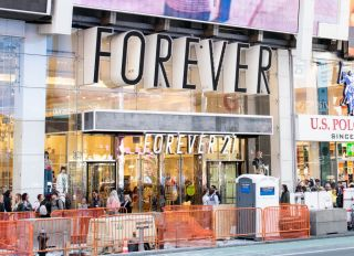Forever 21 store in Times Square in New York City...